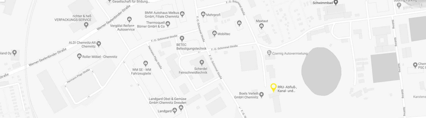 Kartenausschnitt zur Lage der RRU GmbH